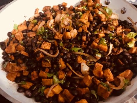 black bean fillinf